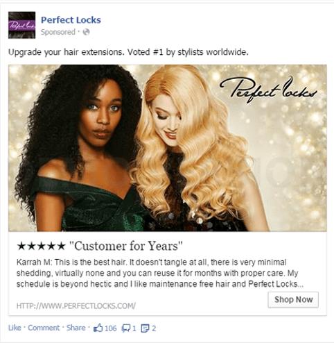 Content Facebook  Facebook-annonser-använd-kunders-ord-e1506322485188 7 tips till konverterande Facebook-annonser